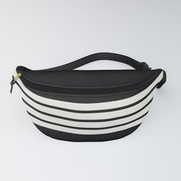Classic White Stripes Fanny Pack