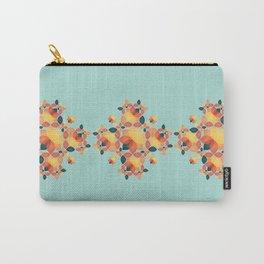 Orange Garden Pattern Carry-All Pouch