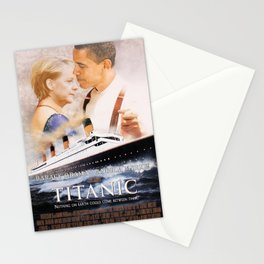 Obama and Merkel as Jack and Rose Stationery Cards