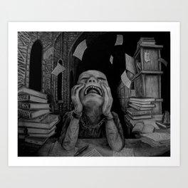 Writing a Thesis Art Print