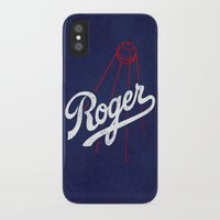 dodgers iPhone & iPod Cases featuring Roger That! by Robert Farkas