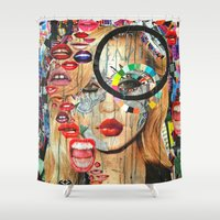 poker Shower Curtains featuring Poker Face by Katy Hirschfeld