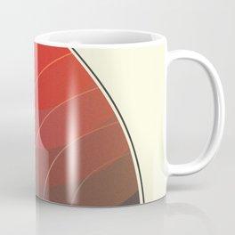 Le Rouge-Orangé (ses diverses nuances combinées avec le noir) Vintage Remake, no text Coffee Mug