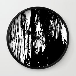 Horror in black and white Wall Clock