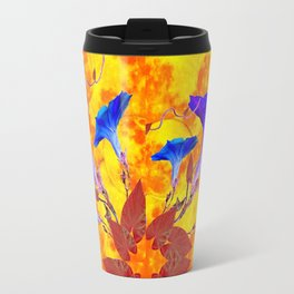 Purple & Gold Floral Design Travel Mug