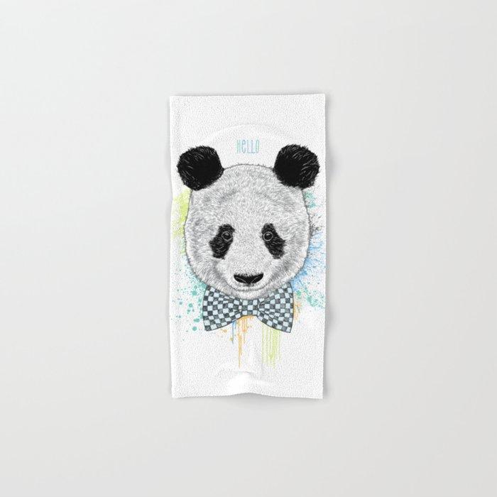 Hello Panda Hand & Bath Towel
