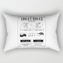 Toilet Rules Rectangular Pillow