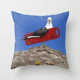 Preserve the oceans Throw Pillow