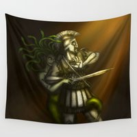medusa Wall Tapestries featuring Medusa by wolfanita