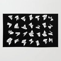 origami Area & Throw Rugs featuring origami by spinL