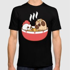 Chicken Noodle Puglie Soup Black Mens Fitted Tee LARGE