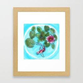 koi bubble #3 Framed Art Print