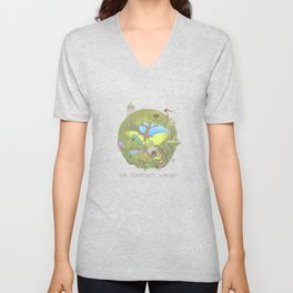 The Elephant's Garden - Version 1 Unisex V-Neck