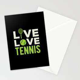 Live Love Tennis Stationery Cards