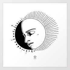 Half Moon Face Art Print