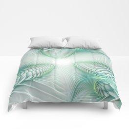 Ghost Busters - fractal - Slime - Lime - Manafold Art Comforters