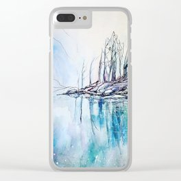 The other side of the mountain Clear iPhone Case