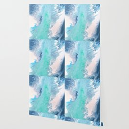Blue Fluid Painting Waves Fluid Acrylic Abstract Wallpaper