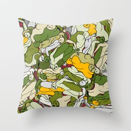 Guacamole People Throw Pillow