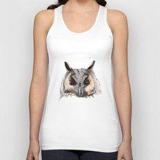 Long Eared Owl Unisex Tank Top