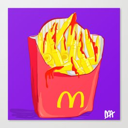 Bloody French Fries Canvas Print