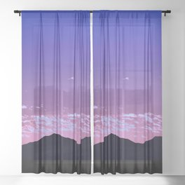 SW Mountain Sunrise - I Sheer Curtain