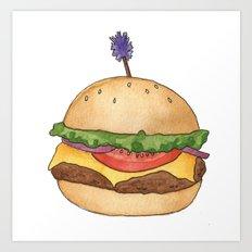 B is for Burger Art Print