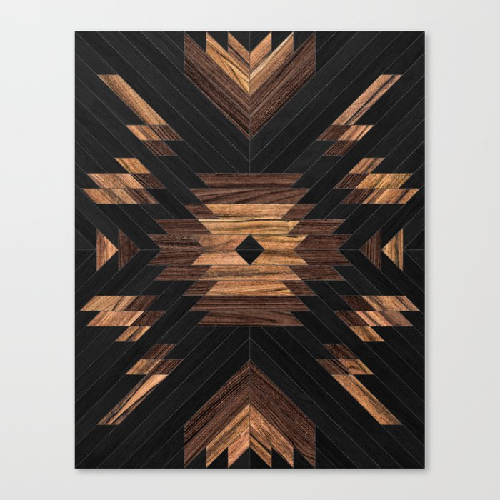Urban Tribal Pattern No.7 - Aztec - Wood Leinwanddruck