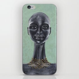 African Girl with Necklace iPhone Skin