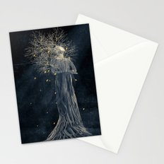 Dark portrait in autumn II Stationery Cards