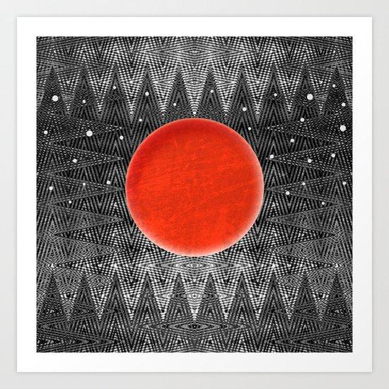 Bodacious Blood Moon Art Print