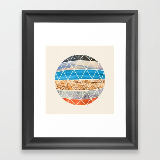 Eco Geodesic  Framed Art Print