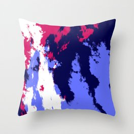 Colorful Abstract Decorative Camouflage Art Pattern - Ichiya Throw Pillow