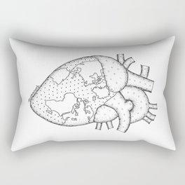 Wanderer's Heart Earth anatomy Rectangular Pillow