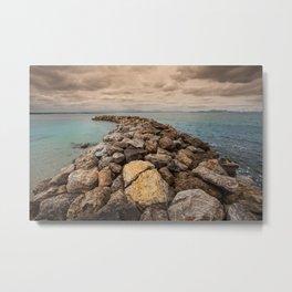 The breakwater Metal Print