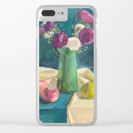 Asters Clear iPhone Case