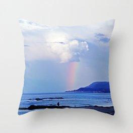 Love under the Rainbow Throw Pillow