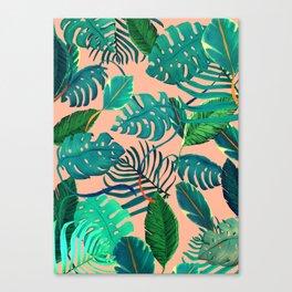Summer Tropical Leaves Canvas Print