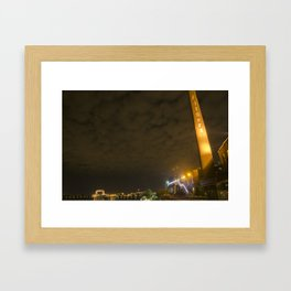 Nightscape at Fitgers Framed Art Print
