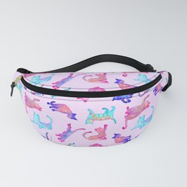 Rainbow Cats on Pink Fanny Pack