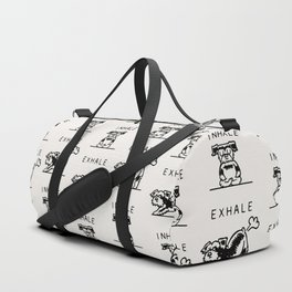 Inhale Exhale Schnauzer Duffle Bag