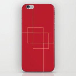 Red Clock Design iPhone Skin