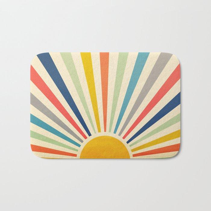 Sun Retro Art III Bath Mat