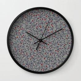 Mistletoe Pattern Wall Clock