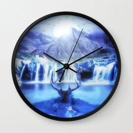 Deer Life Wall Clock