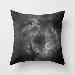 Stars and Space Dust B&W Throw Pillow