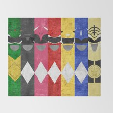 Mighty Morphin Power Rangers Throw Blanket