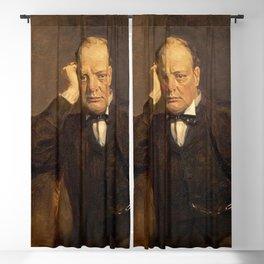 James Guthrie - Sir Winston Churchill, 1874 - 1965 Statesman Blackout Curtain
