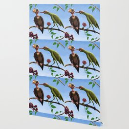 Whimsical  birds Wallpaper