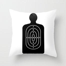 Human Shape Target Throw Pillow
